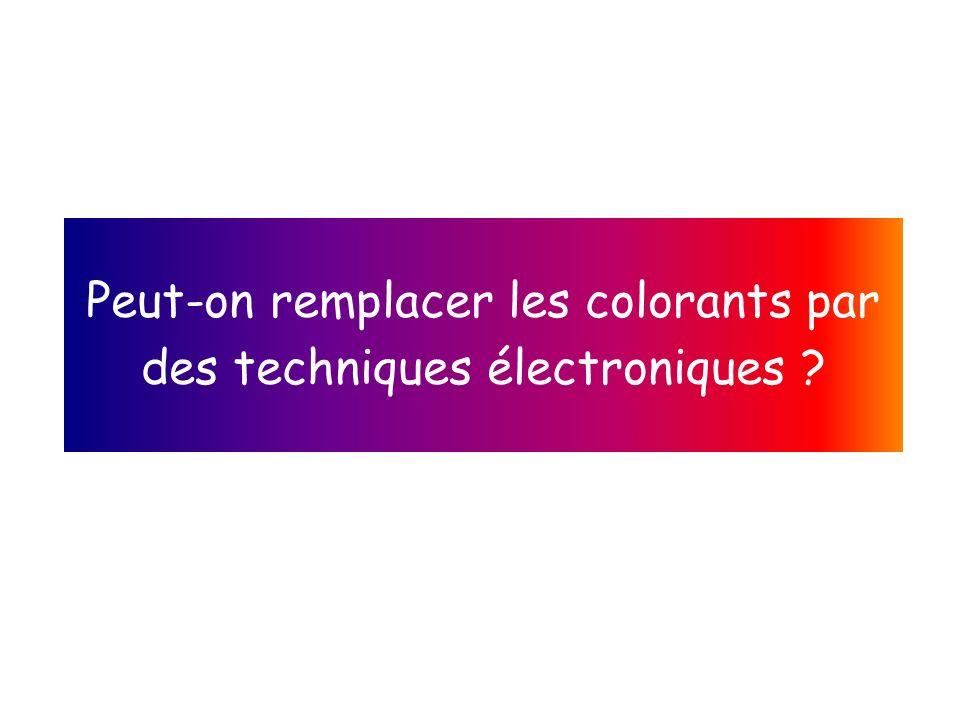 Peut-on remplacer les colorants par des techniques électroniques