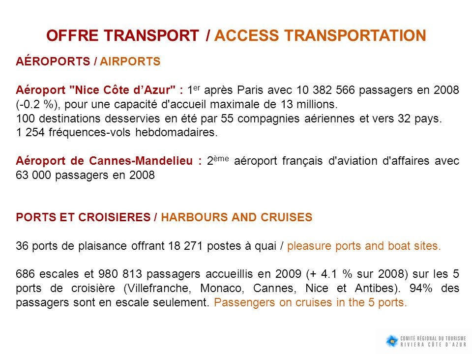 OFFRE TRANSPORT / ACCESS TRANSPORTATION