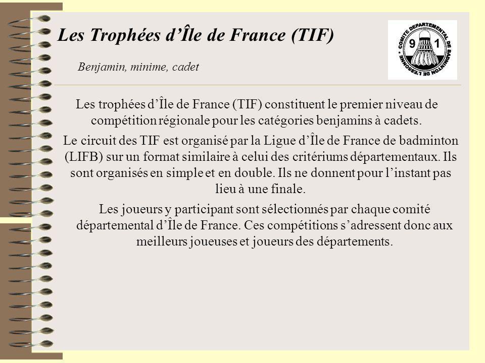 Les Trophées d'Île de France (TIF)