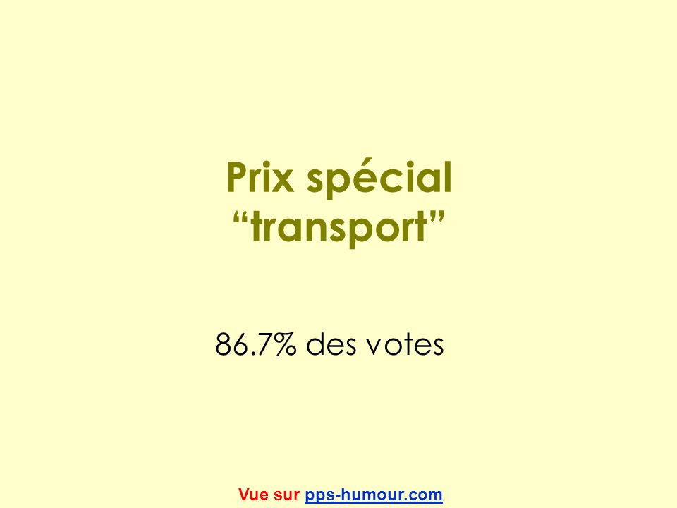 Prix spécial transport