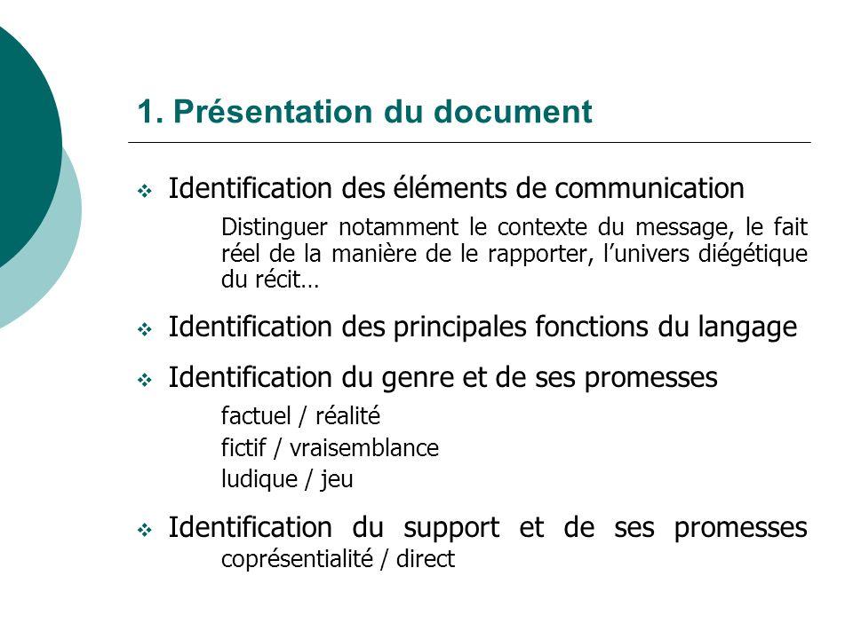 1. Présentation du document