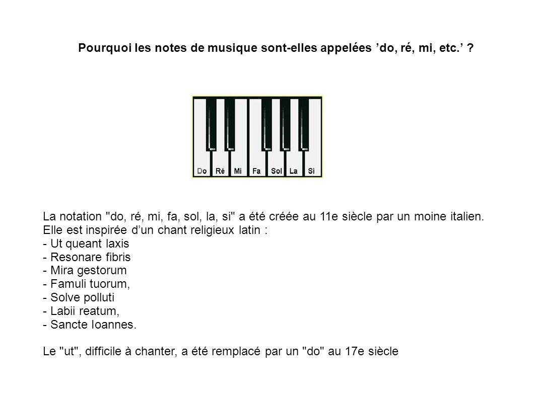 Pourquoi les notes de musique sont-elles appelées 'do, ré, mi, etc.'
