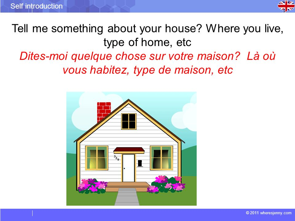 Tell me something about your house Where you live, type of home, etc