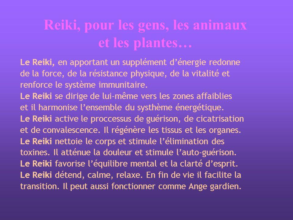 Reiki, pour les gens, les animaux et les plantes…