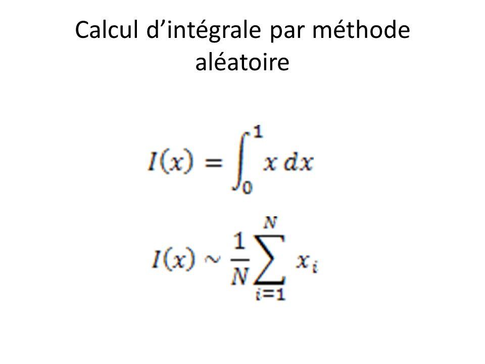 Calcul d'intégrale par méthode aléatoire