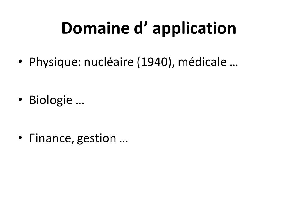 Domaine d' application