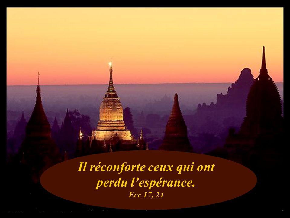 Il réconforte ceux qui ont perdu l'espérance. Ecc 17, 24