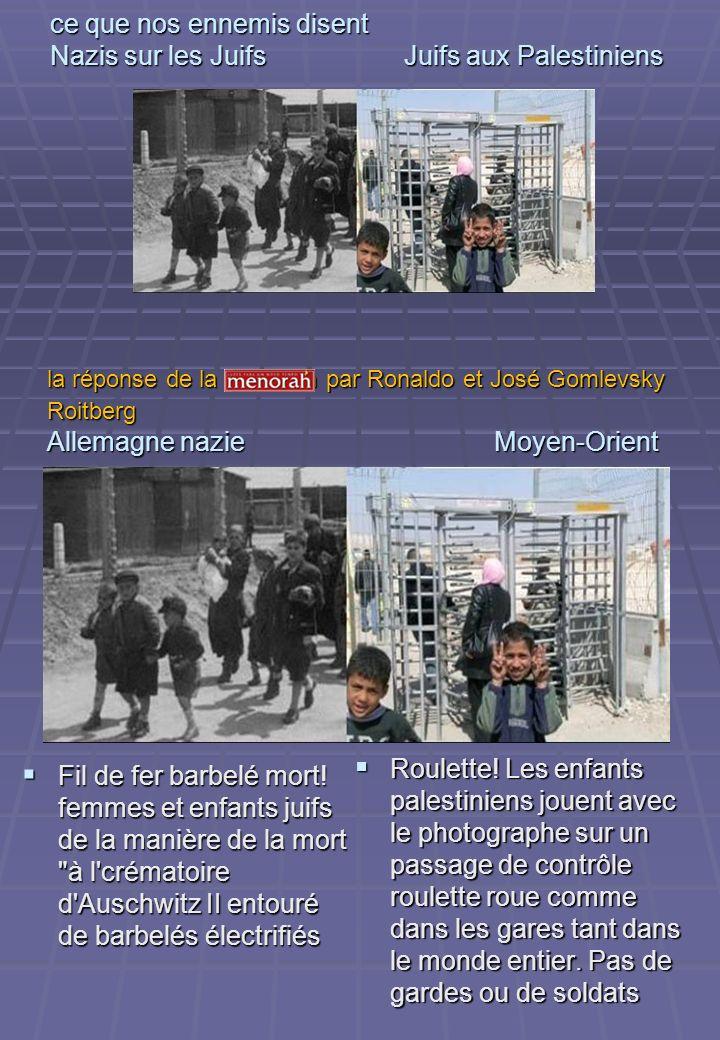ce que nos ennemis disent Nazis sur les Juifs Juifs aux Palestiniens