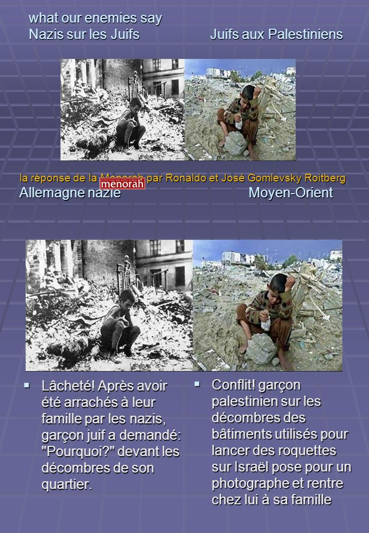 what our enemies say Nazis sur les Juifs Juifs aux Palestiniens