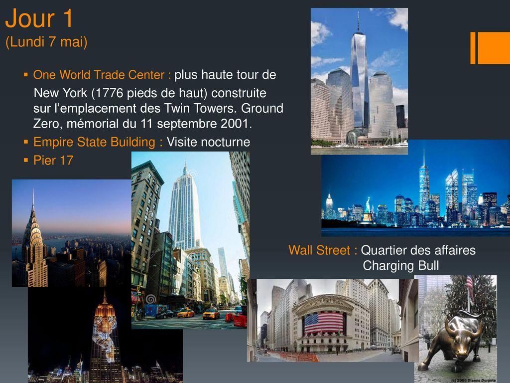 Objectifs du voyage new york ppt t l charger for Plus haute tour new york
