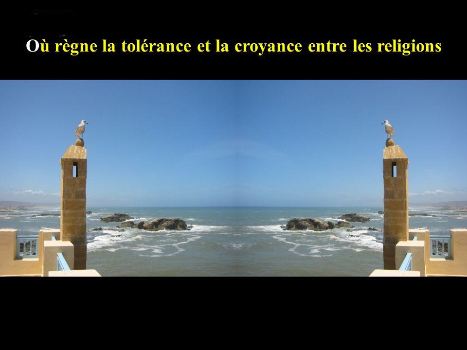 Où règne la tolérance et la croyance entre les religions