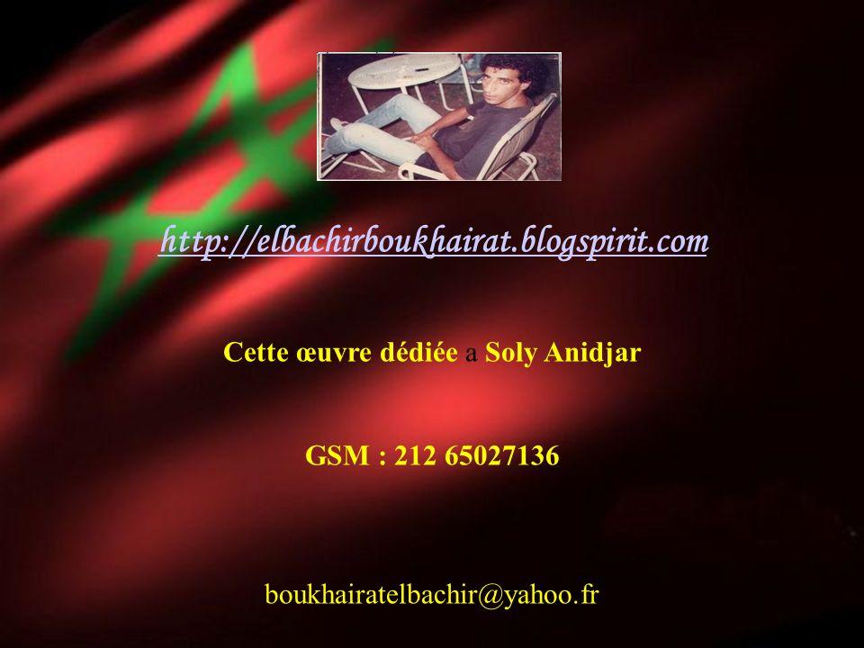 Cette œuvre dédiée a Soly Anidjar