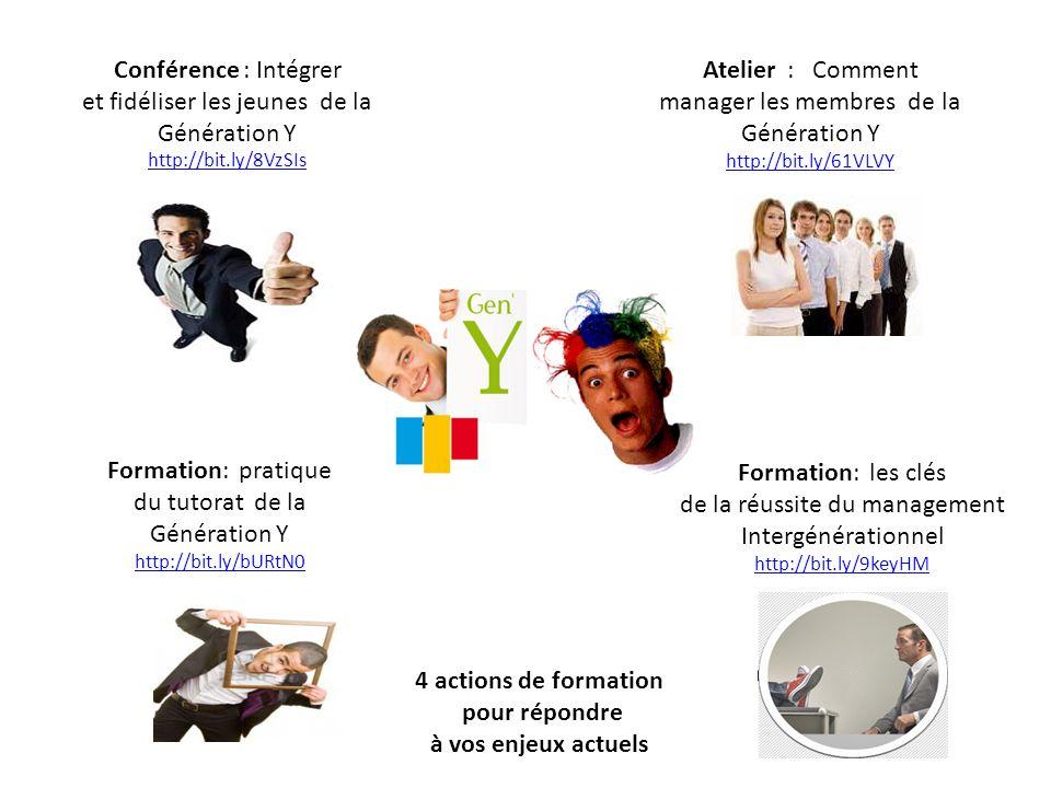 Conférence : Intégrer et fidéliser les jeunes de la Génération Y http://bit.ly/8VzSIs