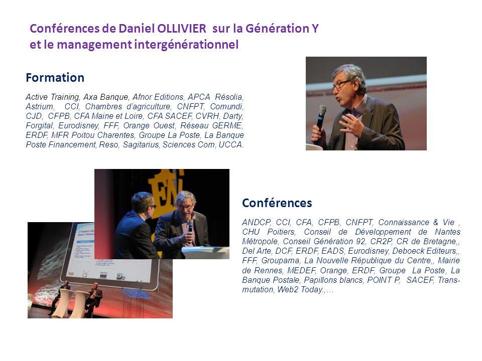 Conférences de Daniel OLLIVIER sur la Génération Y et le management intergénérationnel