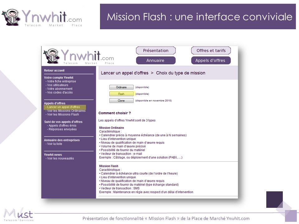 Mission Flash : une interface conviviale
