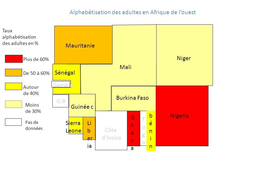 Alphabétisation des adultes en Afrique de l'ouest