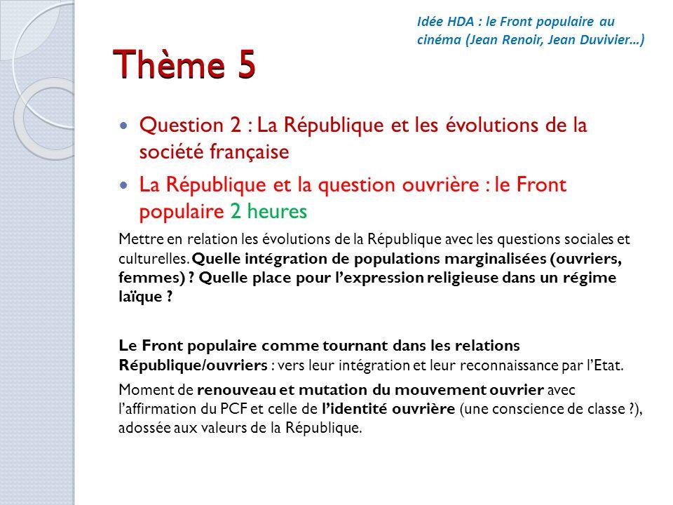 Idée HDA : le Front populaire au cinéma (Jean Renoir, Jean Duvivier…)