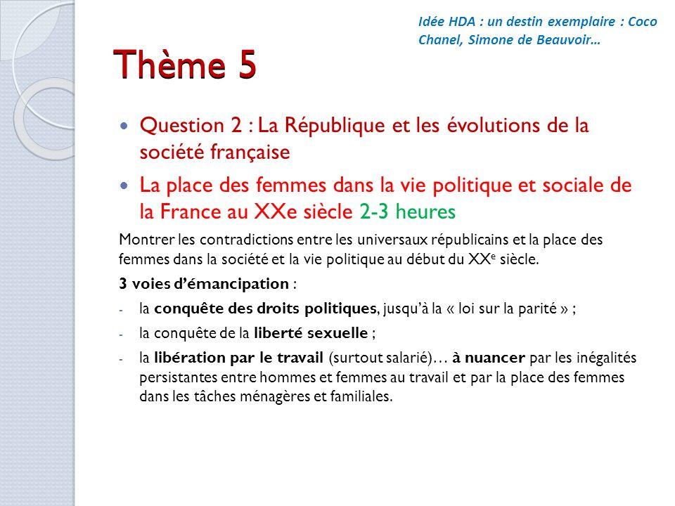Idée HDA : un destin exemplaire : Coco Chanel, Simone de Beauvoir…