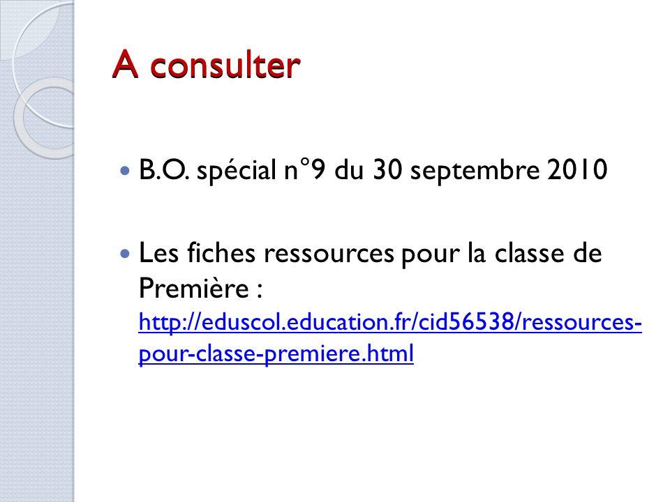 A consulter B.O. spécial n°9 du 30 septembre 2010