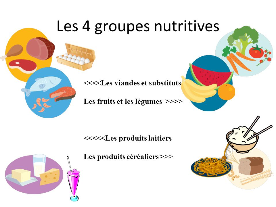 Les 4 groupes nutritives