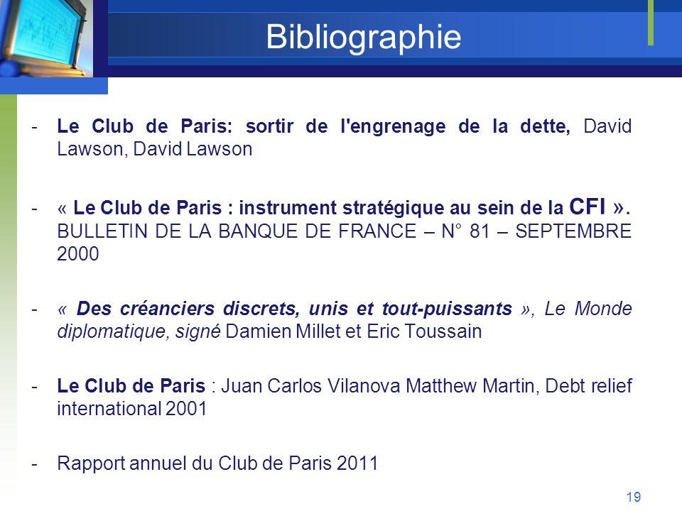 Bibliographie Le Club de Paris: sortir de l engrenage de la dette, David Lawson, David Lawson.