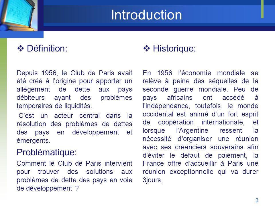 Introduction Définition: Problématique: Historique: