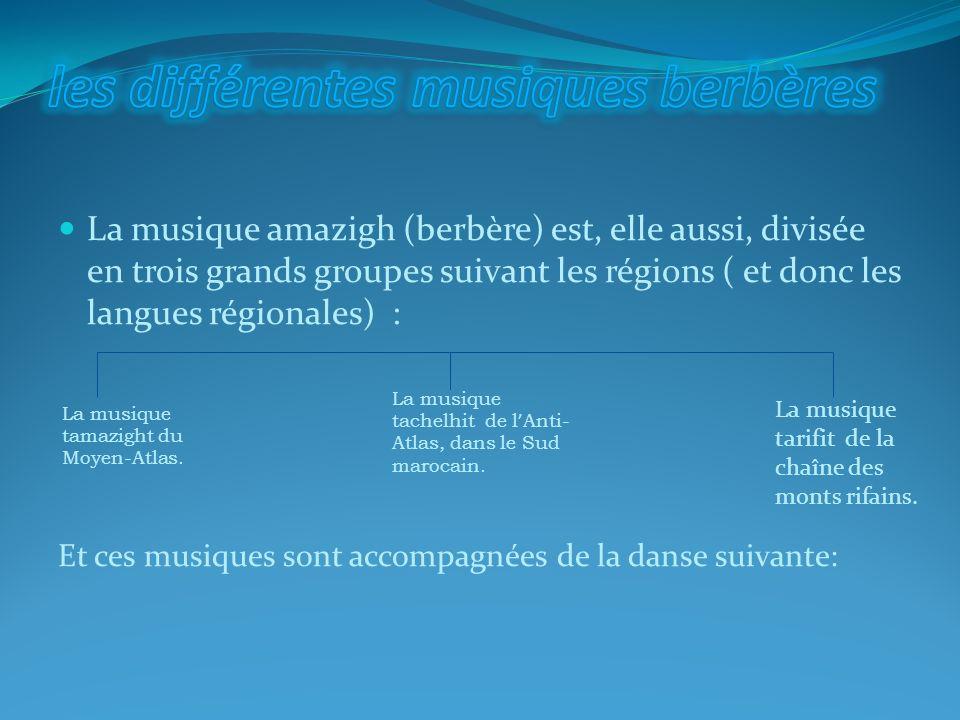 les différentes musiques berbères