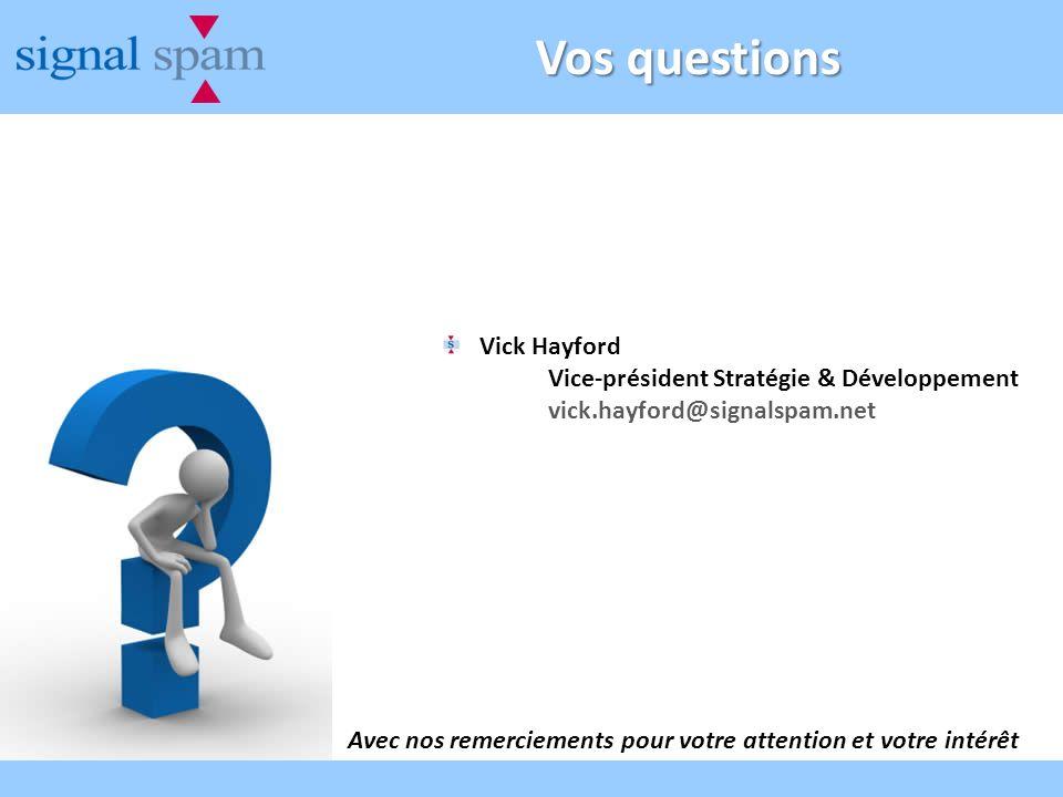 Vos questions Vick Hayford Vice-président Stratégie & Développement