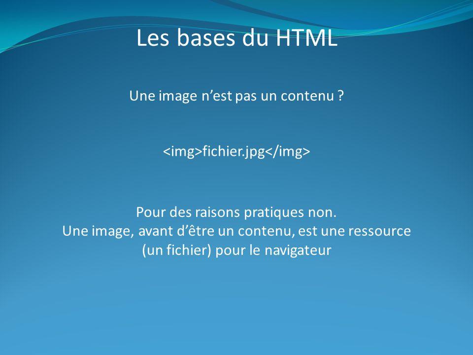 Les bases du HTML Une image n'est pas un contenu