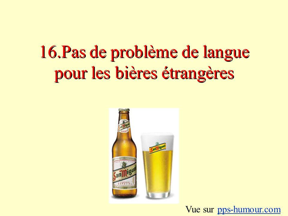16.Pas de problème de langue pour les bières étrangères
