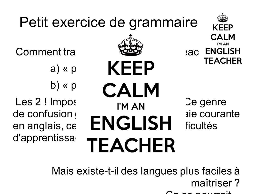 Petit exercice de grammaire