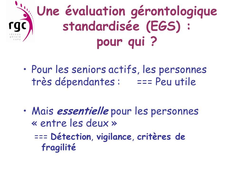 Une évaluation gérontologique standardisée (EGS) : pour qui