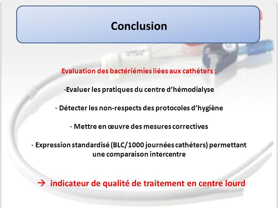 Conclusion  indicateur de qualité de traitement en centre lourd