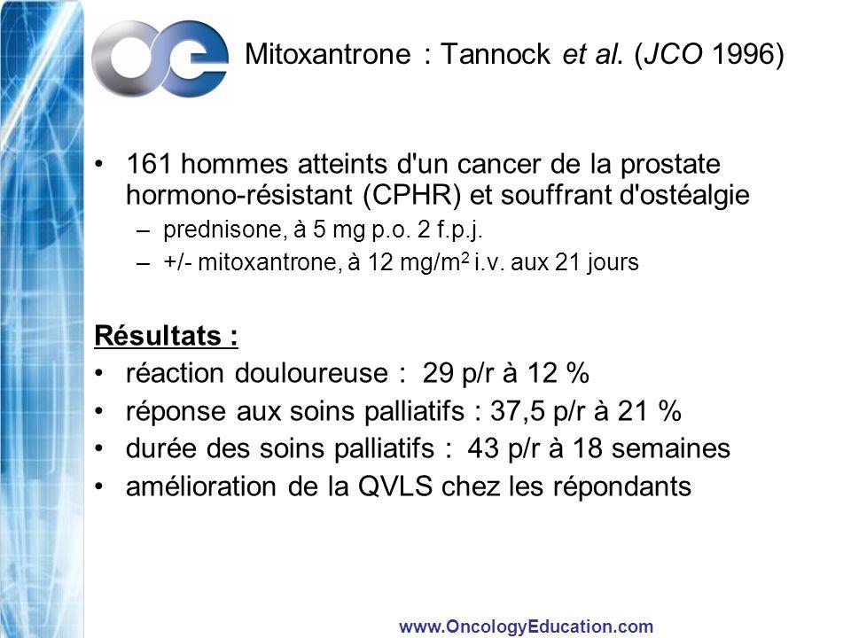 Mitoxantrone : Tannock et al. (JCO 1996)