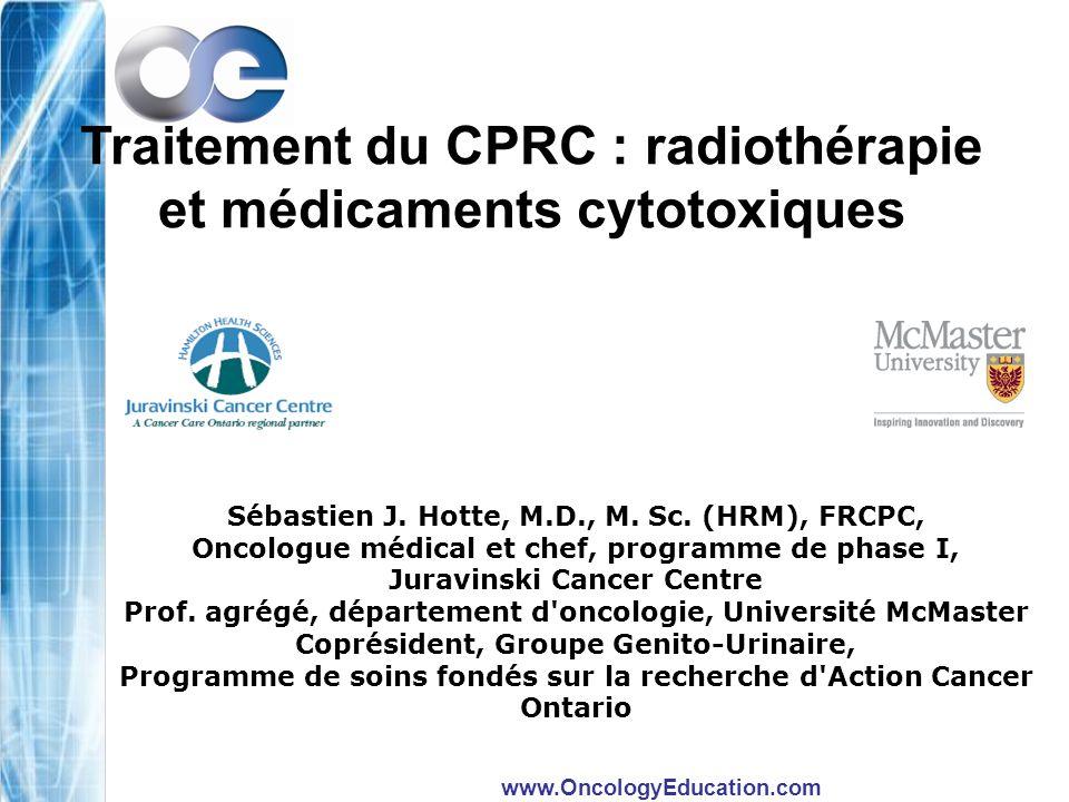 Traitement du CPRC : radiothérapie et médicaments cytotoxiques