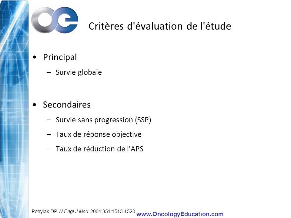 Critères d évaluation de l étude