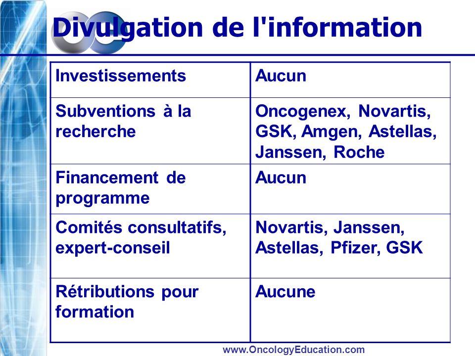 Divulgation de l information