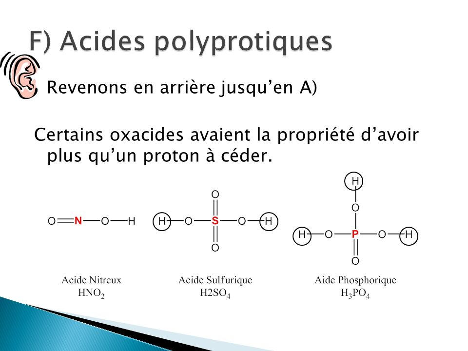 F) Acides polyprotiques