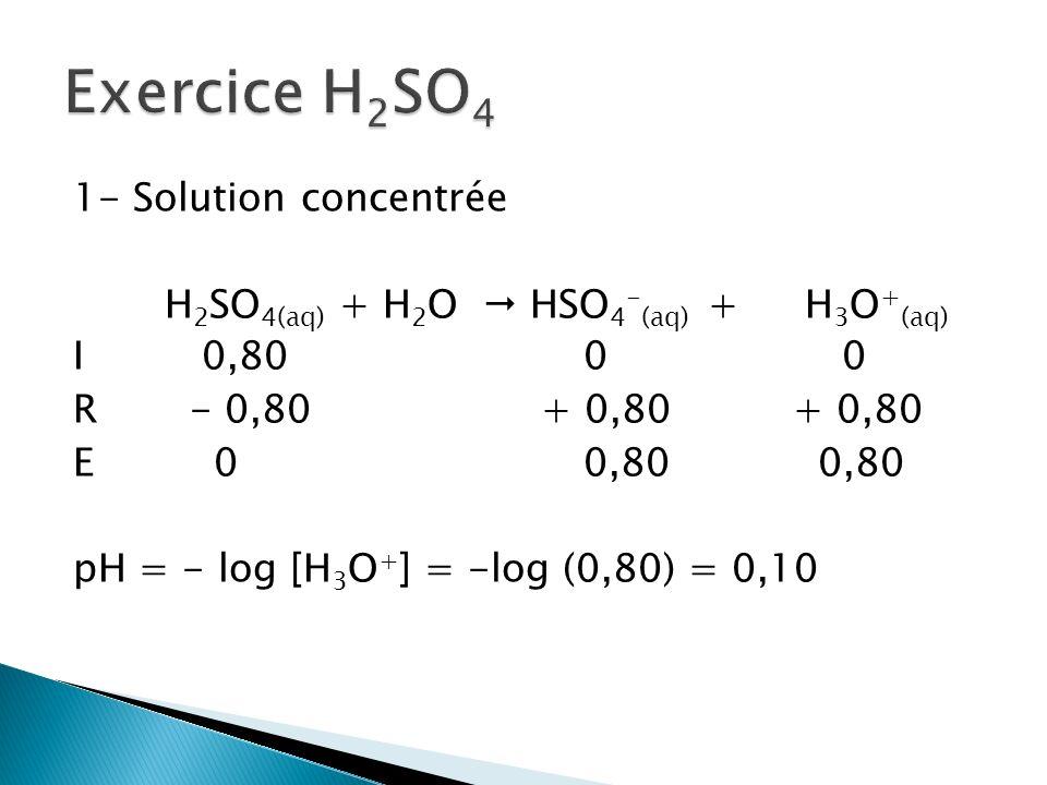 Exercice H2SO4