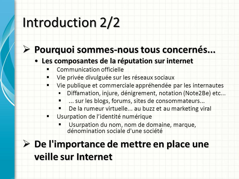 Introduction 2/2 Pourquoi sommes-nous tous concernés...