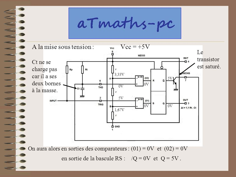 Ce diaporama vous est propos pour suivre par tapes le for Bascule transistor