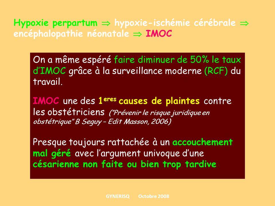 Hypoxie perpartum  hypoxie-ischémie cérébrale  encéphalopathie néonatale  IMOC