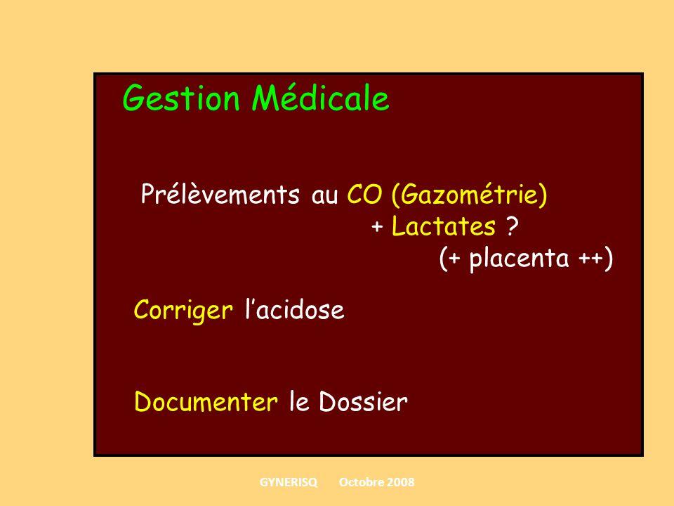 Gestion Médicale Prélèvements au CO (Gazométrie) + Lactates