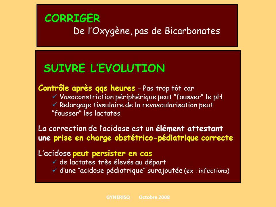 CORRIGER SUIVRE L'EVOLUTION