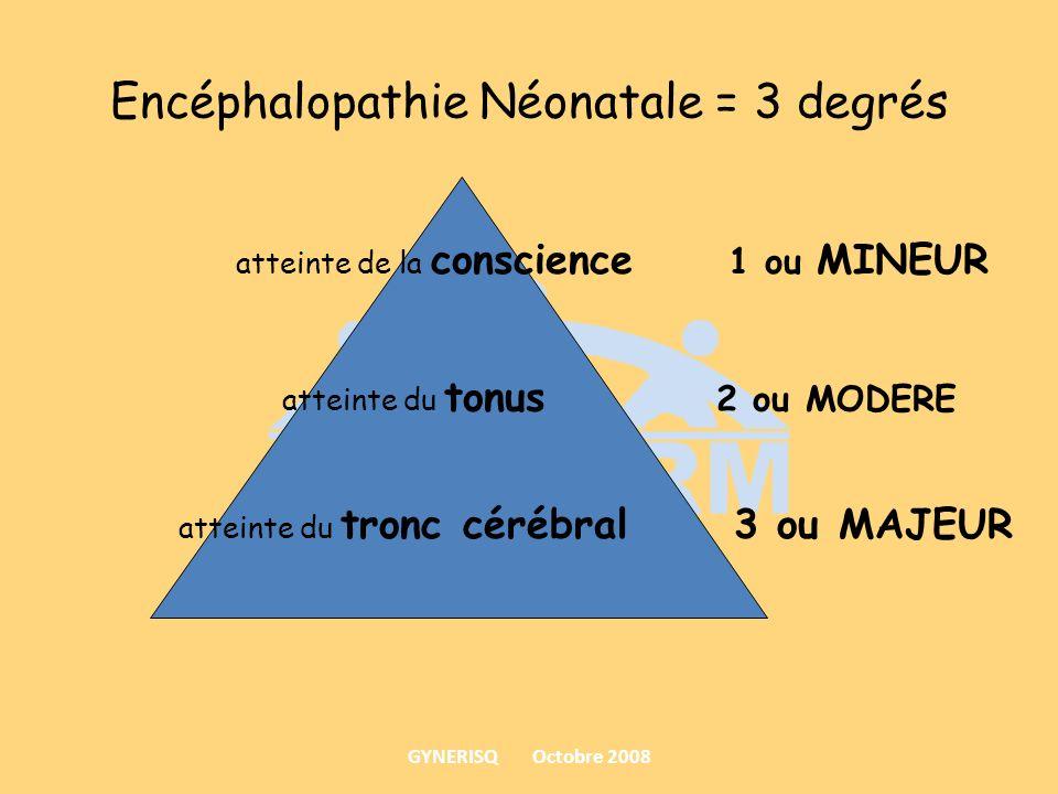 Encéphalopathie Néonatale = 3 degrés