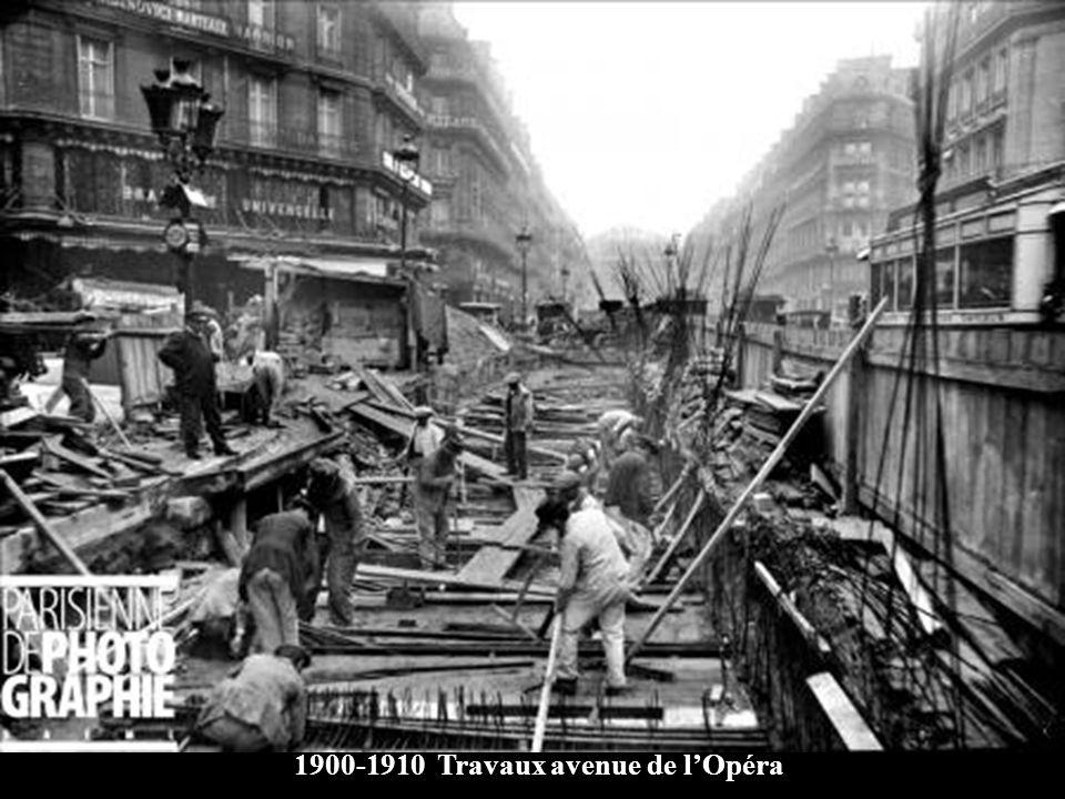 1900-1910 Travaux avenue de l'Opéra