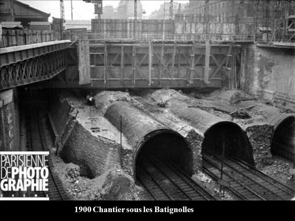 1900 Chantier sous les Batignolles