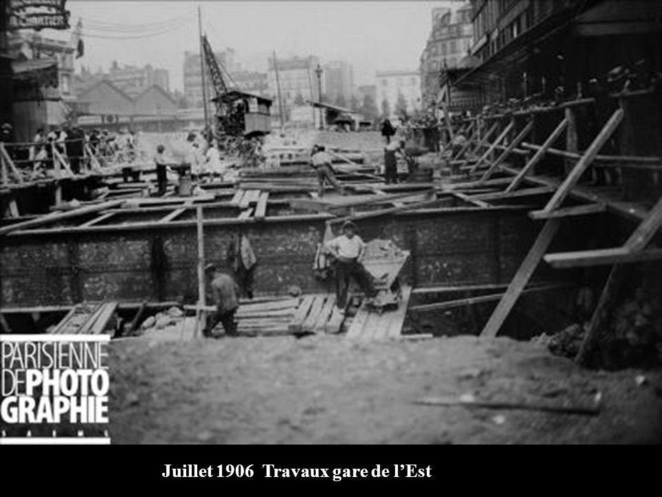 Juillet 1906 Travaux gare de l'Est