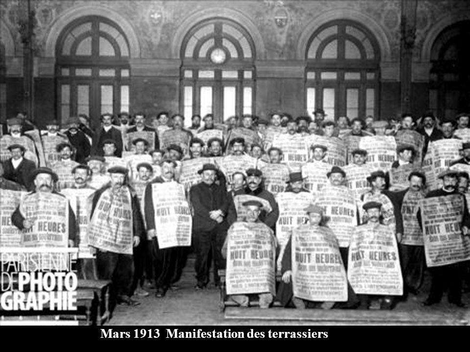 Mars 1913 Manifestation des terrassiers