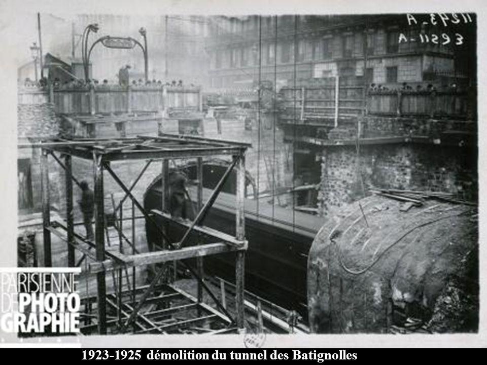 1923-1925 démolition du tunnel des Batignolles